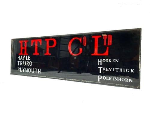 Antique Advertising - Hosken Trevithick Polkinhorn & Co Ltd Salvaged Glass Sign